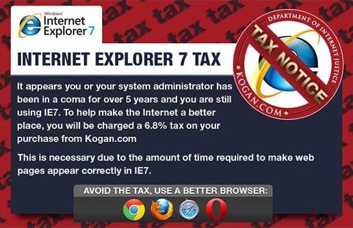 Internet Explorer Tax