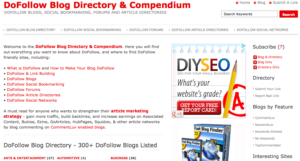 Find Blogs With DoFollow Comments Using This Directory