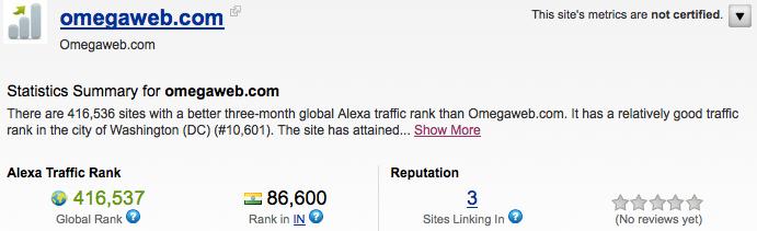 Omega Web Alexa