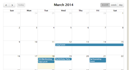 Date and Time Calendar | 12 Best jQuery Date and Time Calendar Options