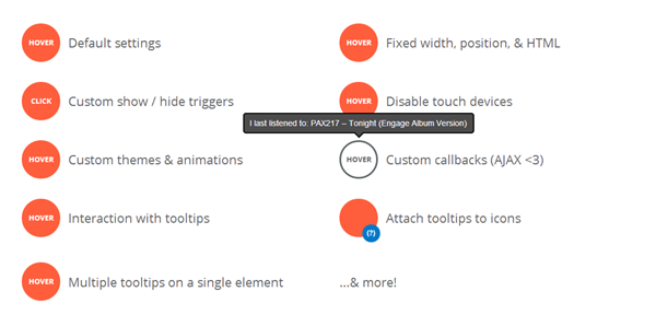 Beautiful jQuery Tooltip Plugins