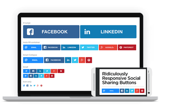 Ridiculously responsive social sharing