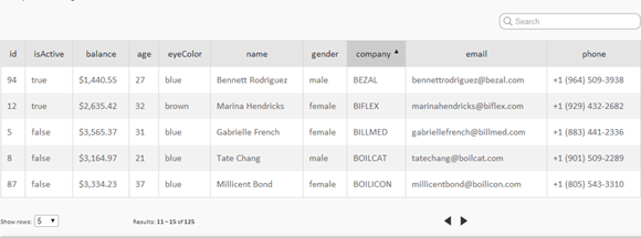 20 Useful jQuery Tables Plugins with Demos