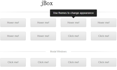 jBox - An Awesome jQuery Plugin for Popup Windows, Tooltips and Notices