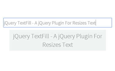 A jQuery Plugin For Resizes Text