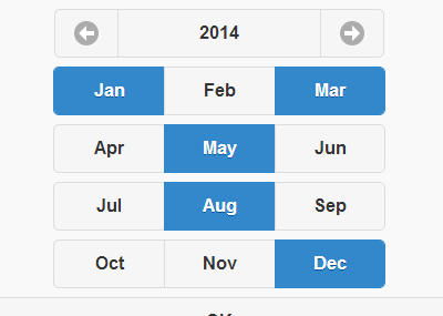 A jQuery Plugin To Select Multiple Month