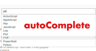 autoComplete - A jQuery completion suggester Plugin