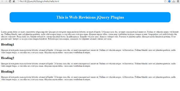 jquery plugin hello