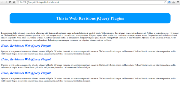 jquery plugin spanish