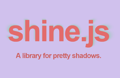 shine js  A Library for Pretty Shadows