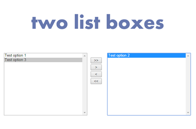 twolistboxes - A jQuery Plugin For Selection Of Options