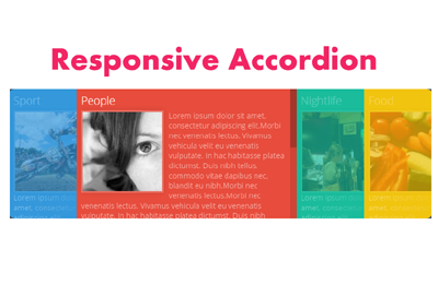Responsive Accordion with HTML5, CSS3 and jQuery