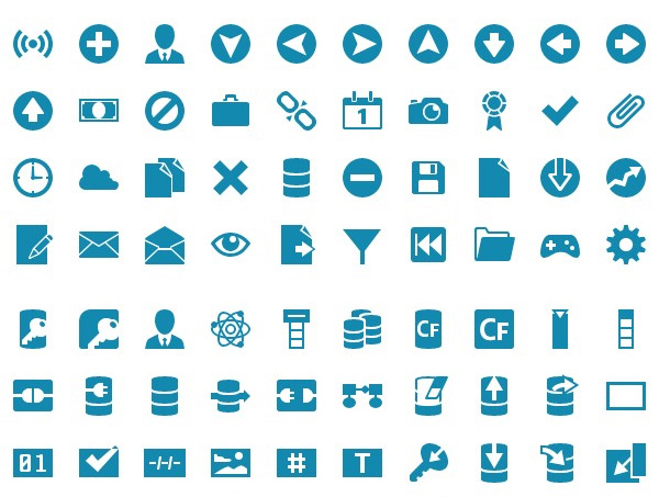 shock icon font
