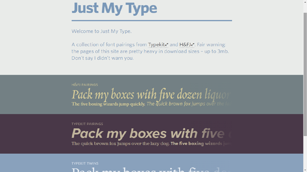 Example of Best Use of Google Fonts Combinations