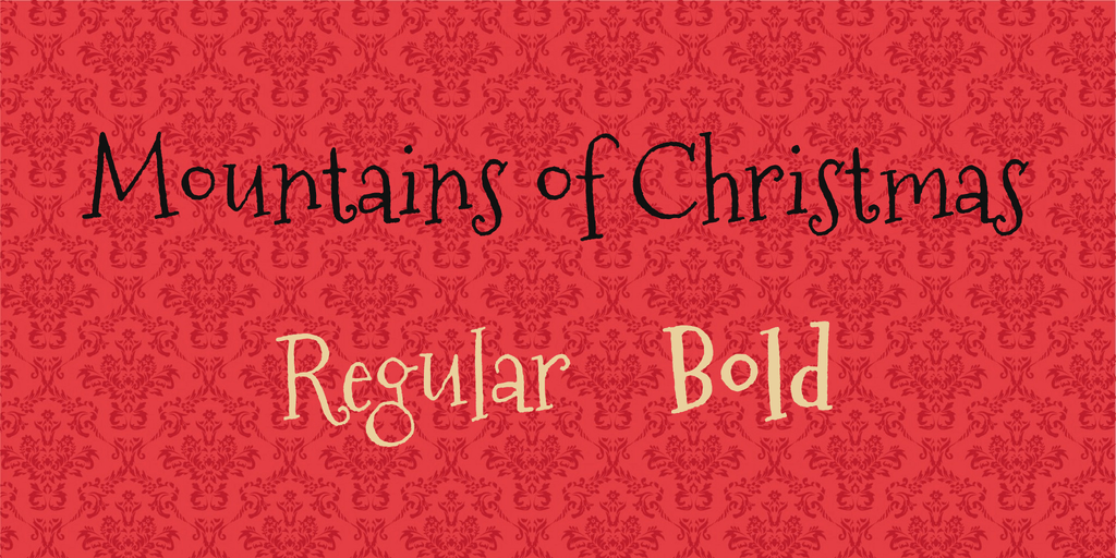 best free christmas fonts mountains of christmas