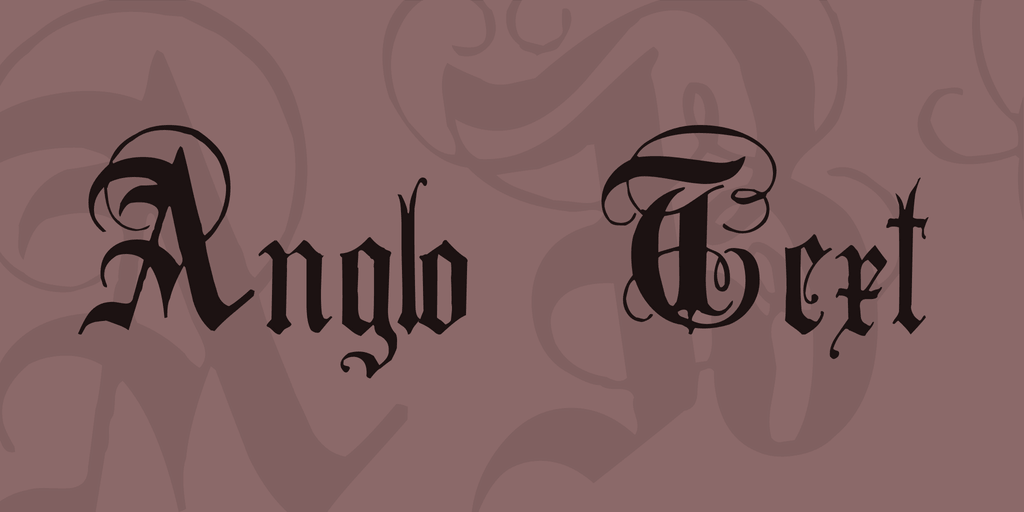 Anglo Text Tattoo Font