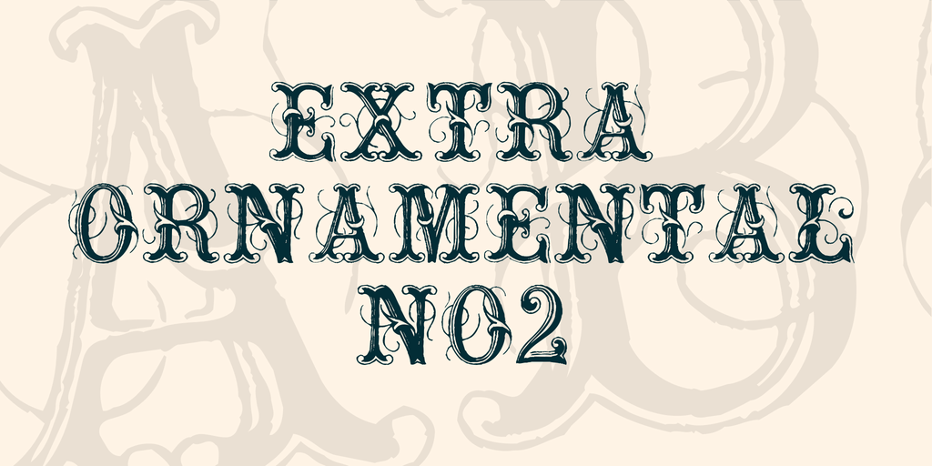Extra Ornamental No2 Tattoo Font