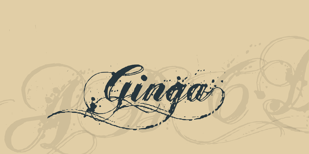 Ginga Tattoo Font
