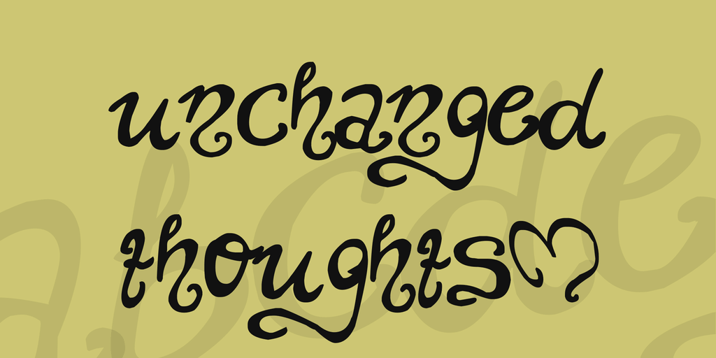Unchanged thoughts Tattoo Font
