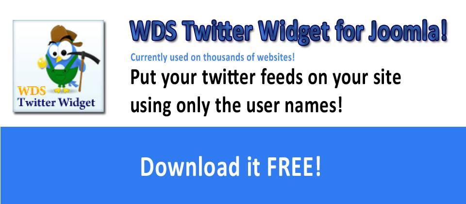 WDS Twitter Widget for Joomla! Free Version